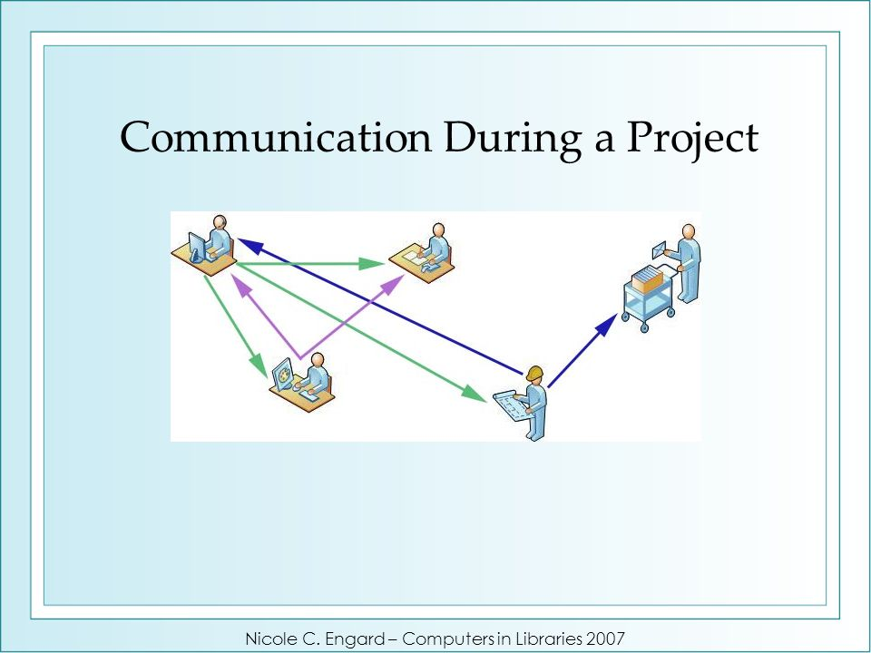 Communication During a Project Nicole C. Engard – Computers in Libraries 2007