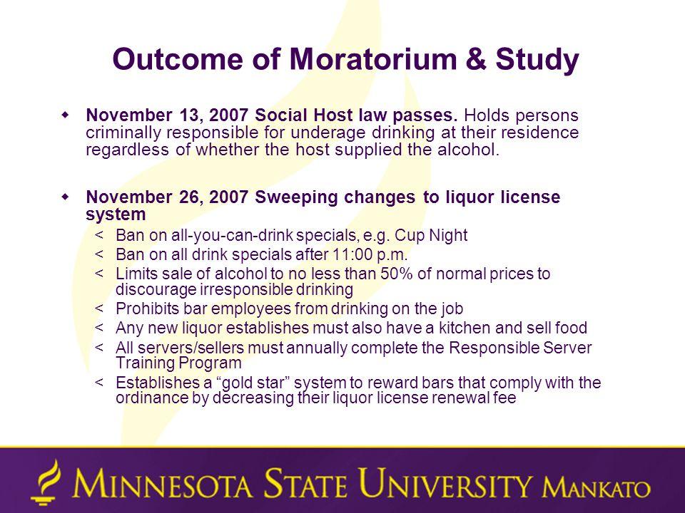  November 13, 2007 Social Host law passes.