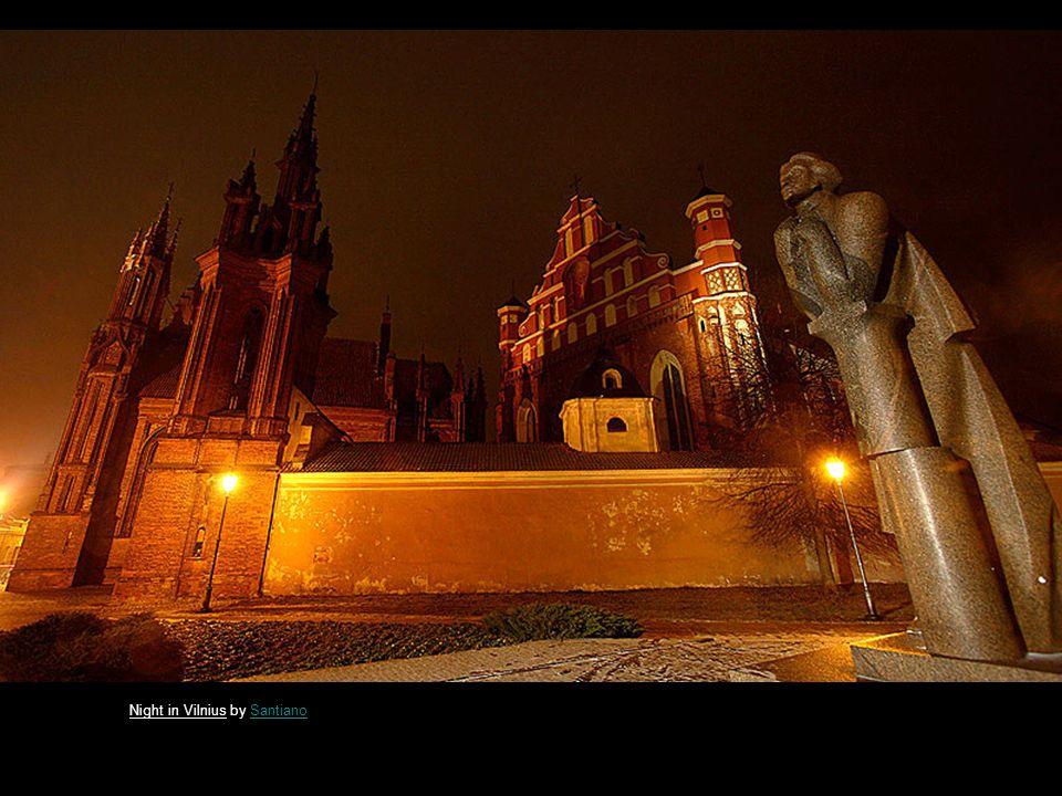 Vilnius late night by SantianoSantiano