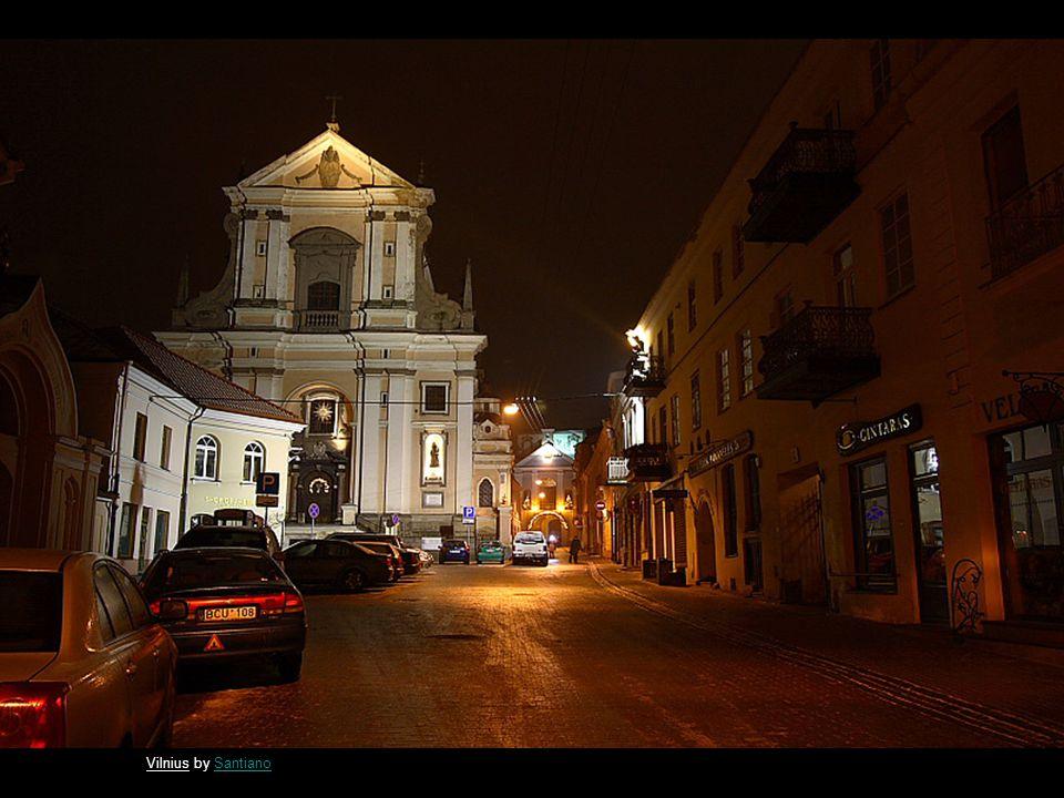 Night in Vilnius by SantianoSantiano