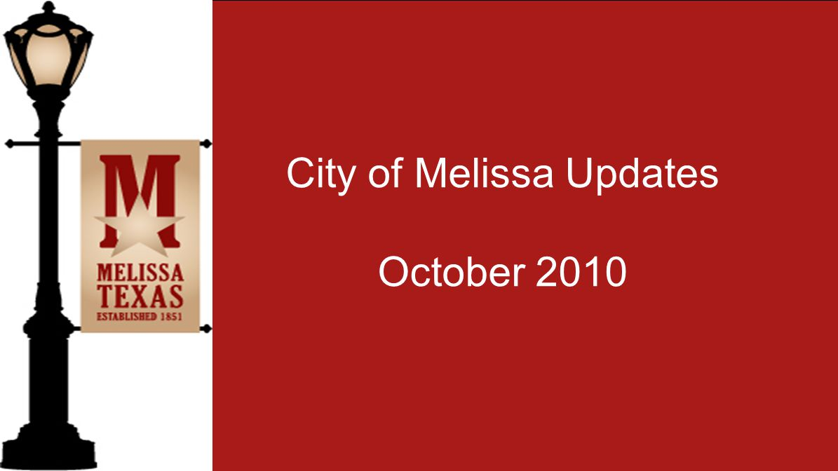 Did you know that City of Melissa has a photo gallery on flickr.