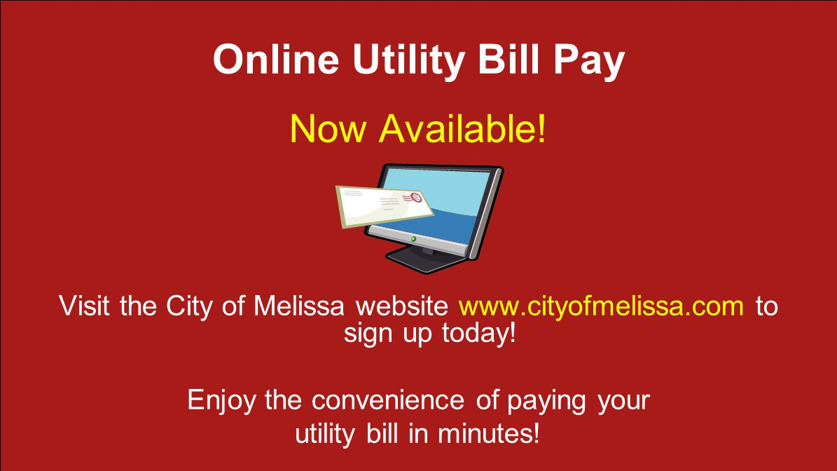Online Utility Bill Pay Now Available.