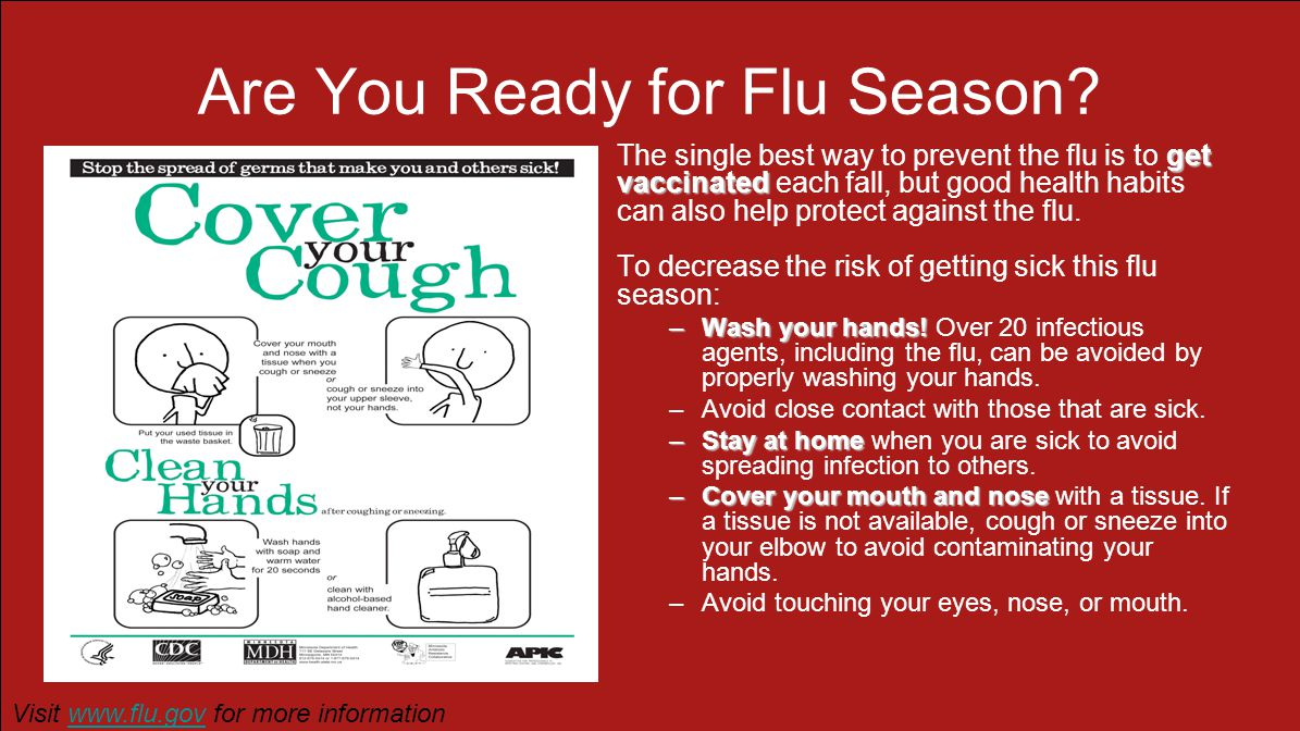 Are You Ready for Flu Season.