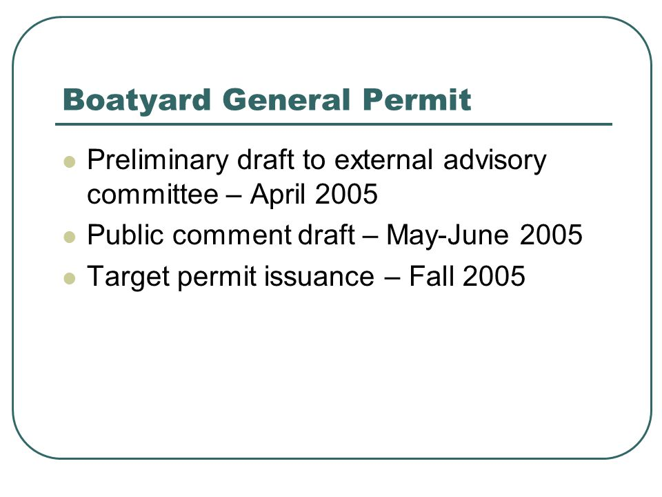 Aquatic Pesticides Permits Recent legal activity Talent Decision says NPDES permits required for use of aquatic pesticides (2001) Permits issued (2002) Recent EPA opinion and draft rules allowing pesticide application w/o permit Ecology will continue to issue permits (April 2005 Focus sheet)