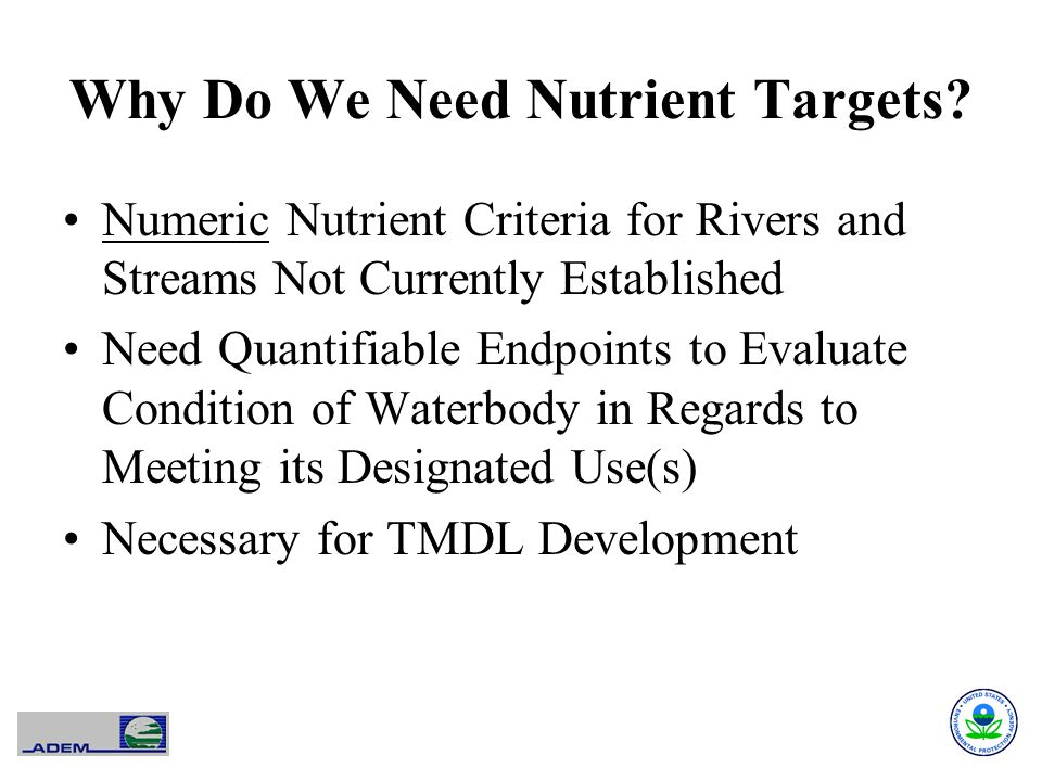 Why Do We Need Nutrient Targets.