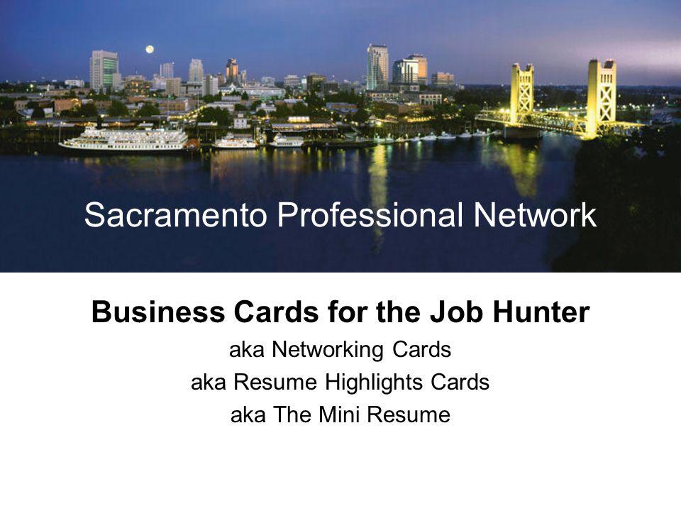 Sacramento Professional Network Hire Experience.