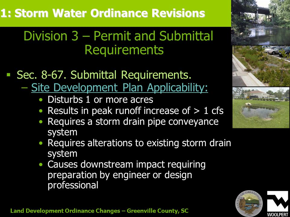 Land Development Ordinance Changes – Greenville County, SC Division 3 – Permit and Submittal Requirements  Sec.