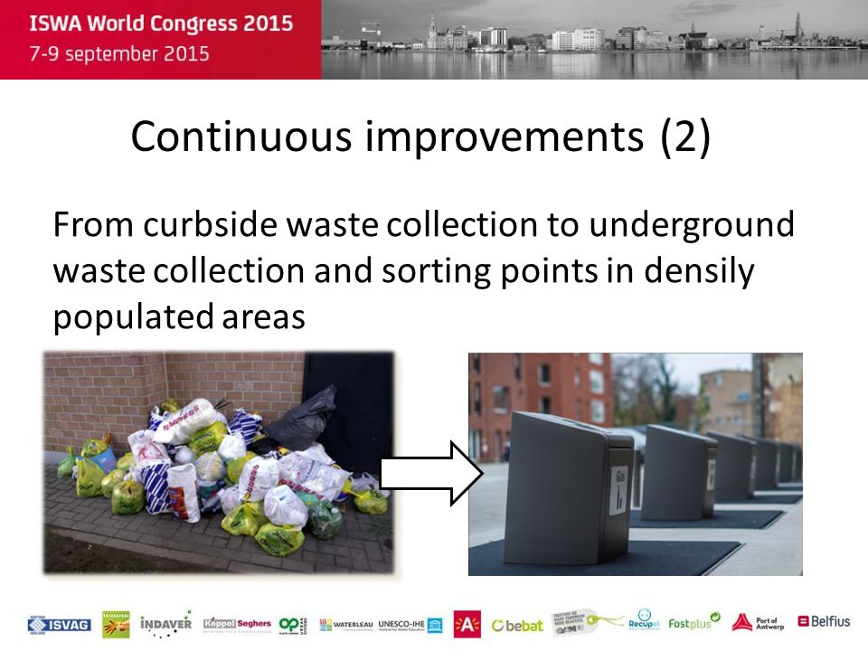 From curbside waste collection to underground waste collection and sorting points in densily populated areas Continuous improvements (2)