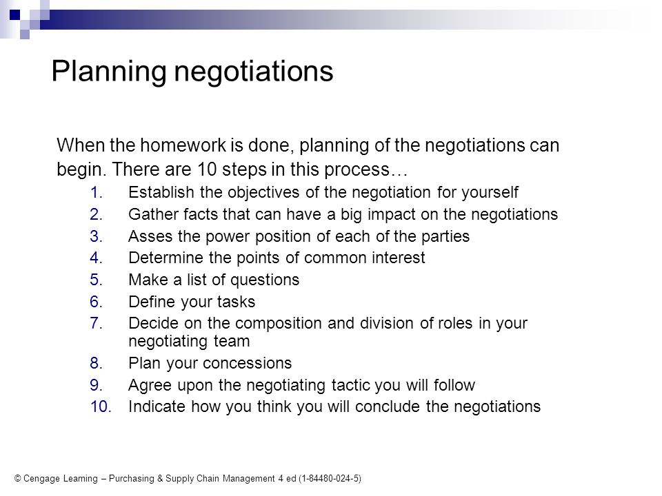 © Cengage Learning – Purchasing & Supply Chain Management 4 ed (1-84480-024-5) Tactics in purchasing negotiations Take-it or-leave-it.