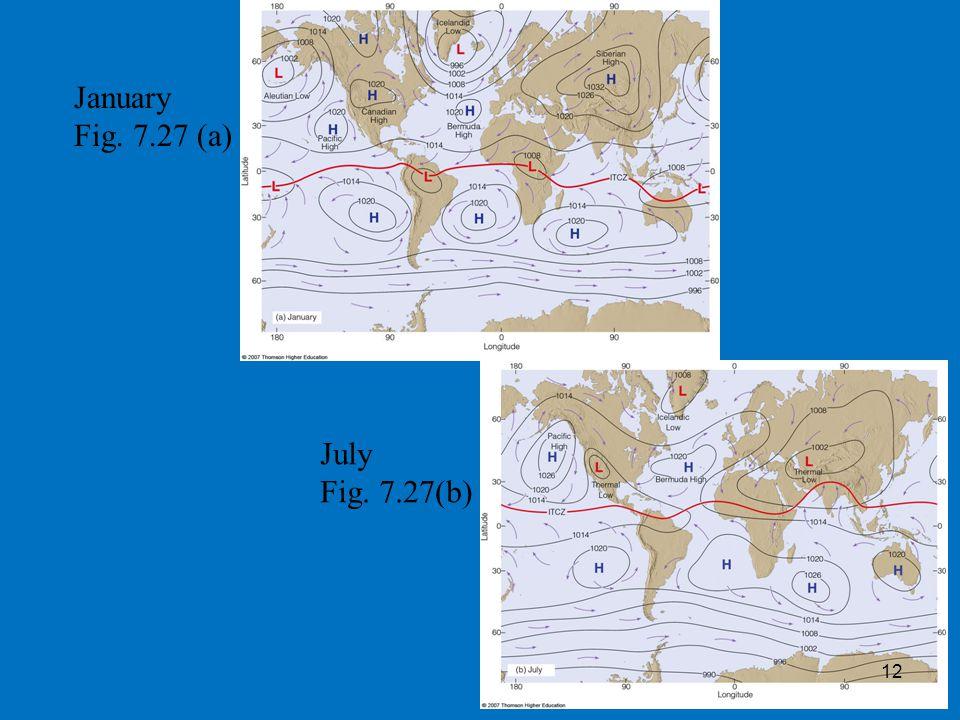 January Fig. 7.27 (a) July Fig. 7.27(b) 12