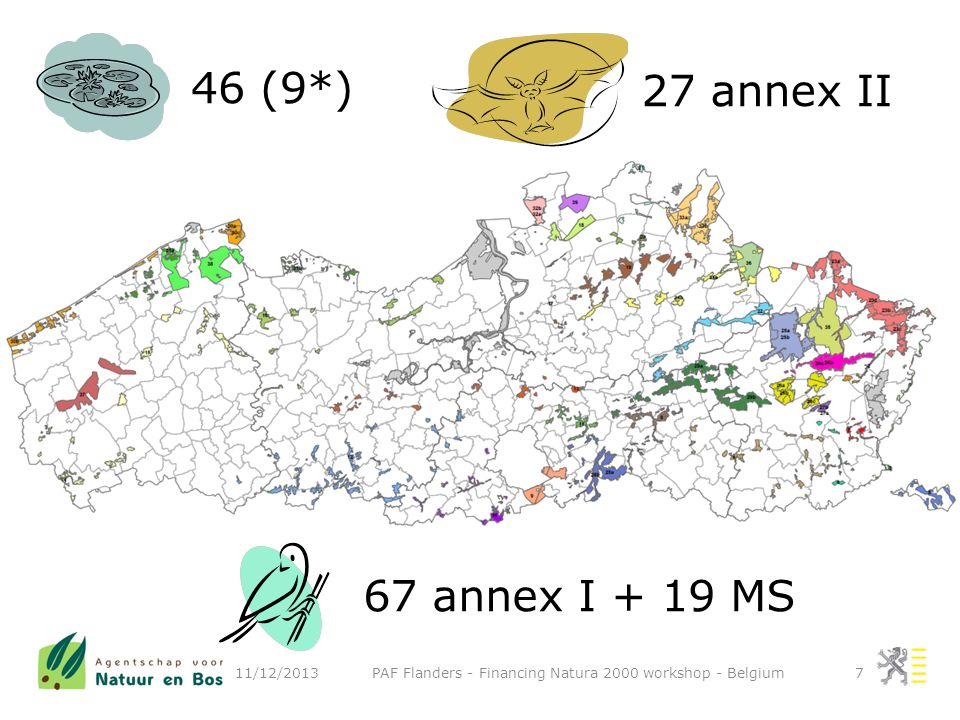 11/12/2013 PAF Flanders - Financing Natura 2000 workshop - Belgium8