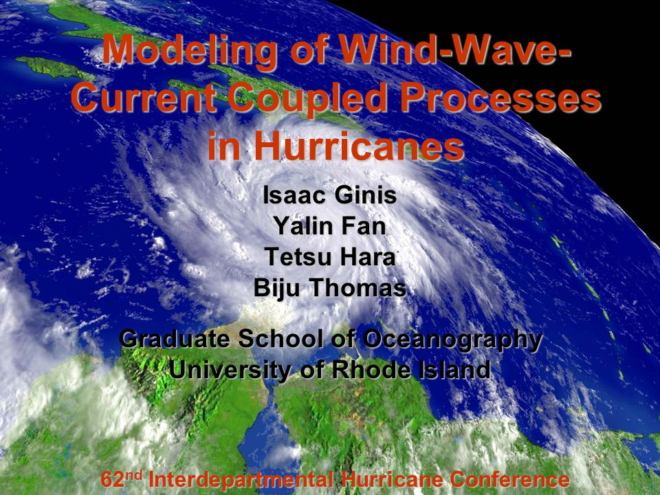 Wind Ocean currents Surface waves Atmosphere Ocean Wind-Wave-Current Interaction Sea state, Sea spray Current Current