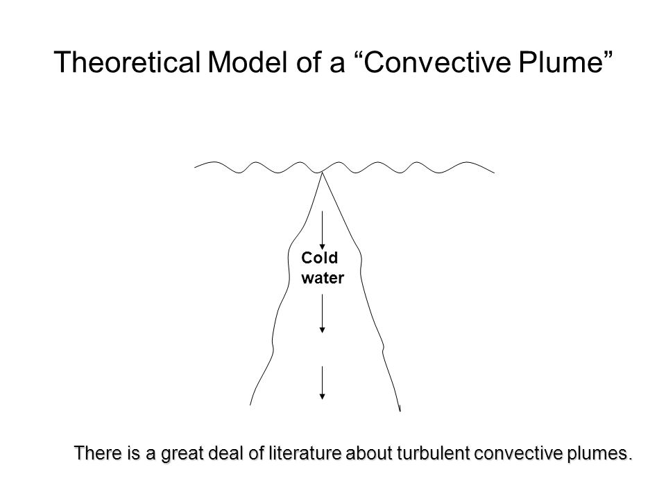 Theoretical Model of a Convective Plume There is a great deal of literature about turbulent convective plumes.