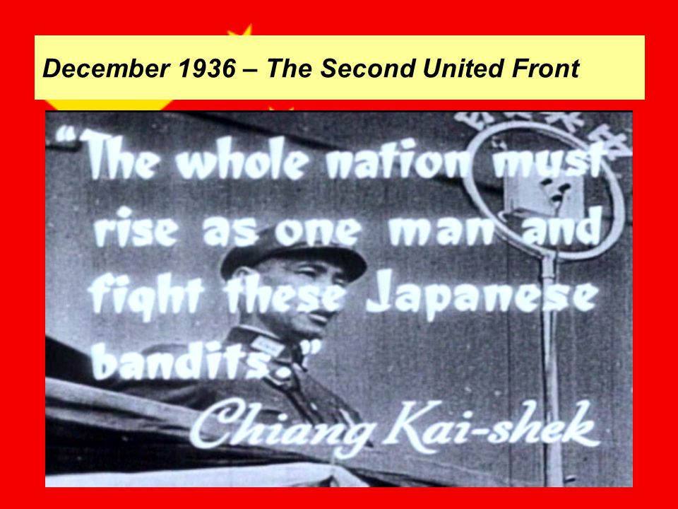 December 1936 – The Second United Front