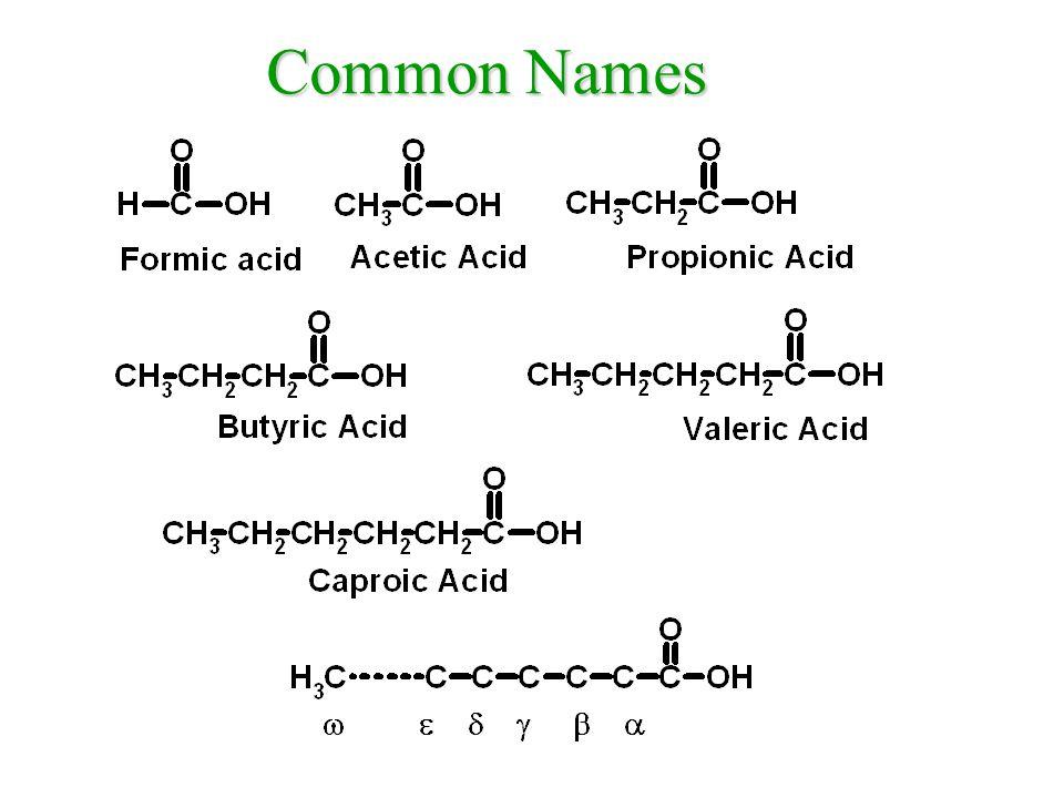 Benzoic acid Benzenecarboxylic acid Cyclohexanecarboxylic acid More Naming