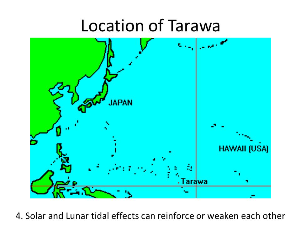 The Attack on Tarawa 4. Solar and Lunar tidal effects can reinforce or weaken each other