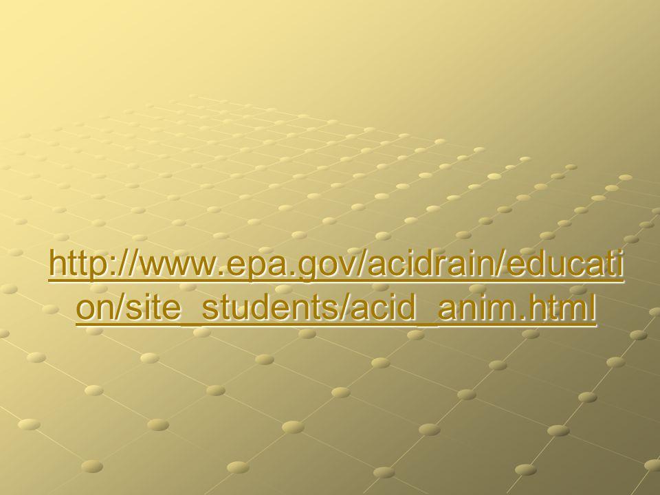 http://www.epa.gov/acidrain/educati on/site_students/acid_anim.html http://www.epa.gov/acidrain/educati on/site_students/acid_anim.html