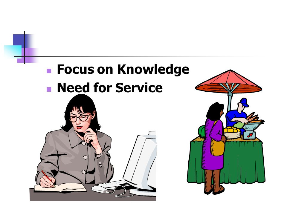 Focus on Knowledge Need for Service