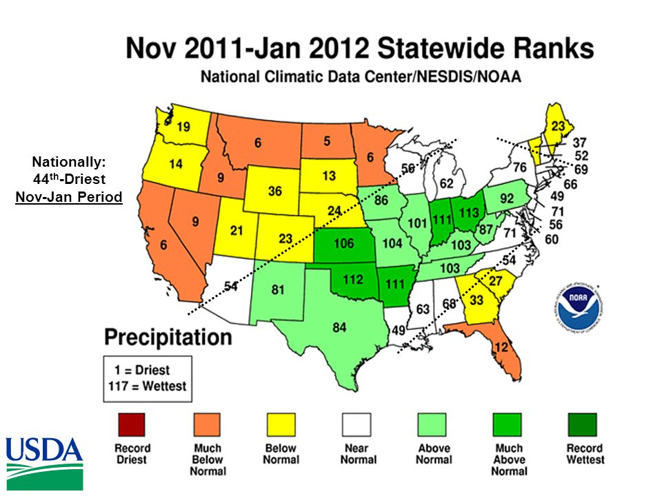 Nationally: 44 th -Driest Nov-Jan Period