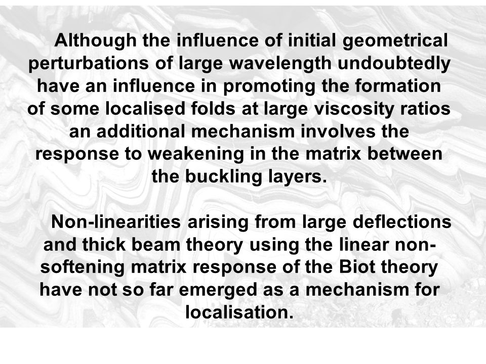 Although the influence of initial geometrical perturbations of large wavelength undoubtedly have an influence in promoting the formation of some local