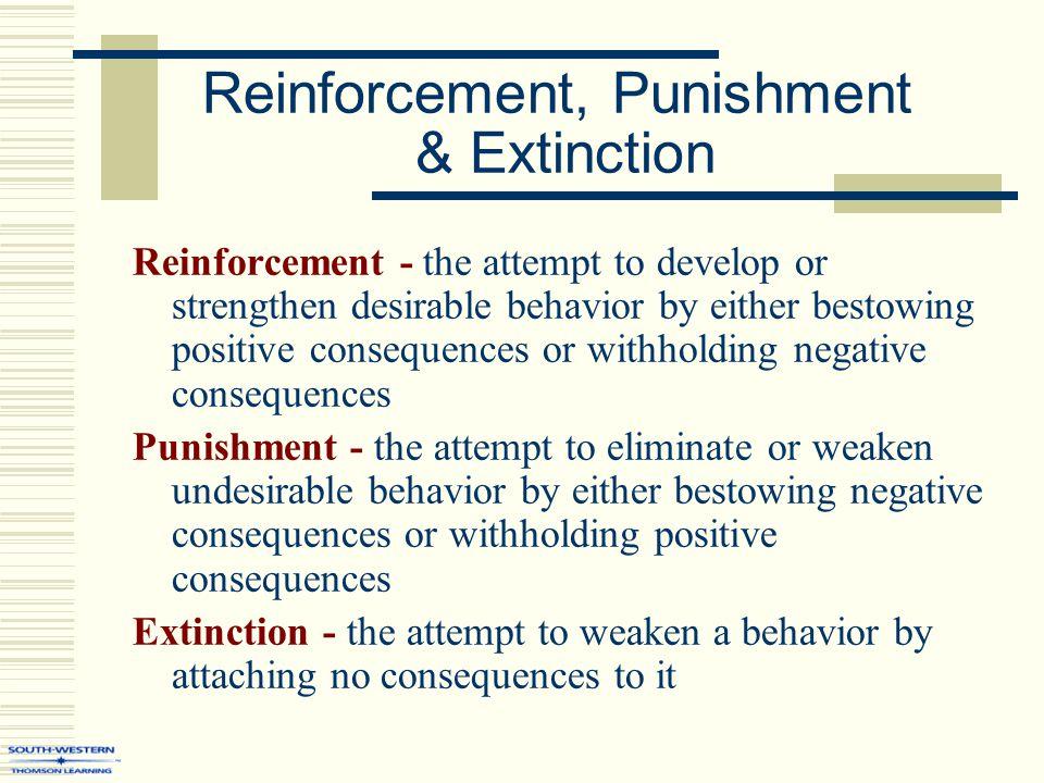 Reinforcement & Punishment Strategies
