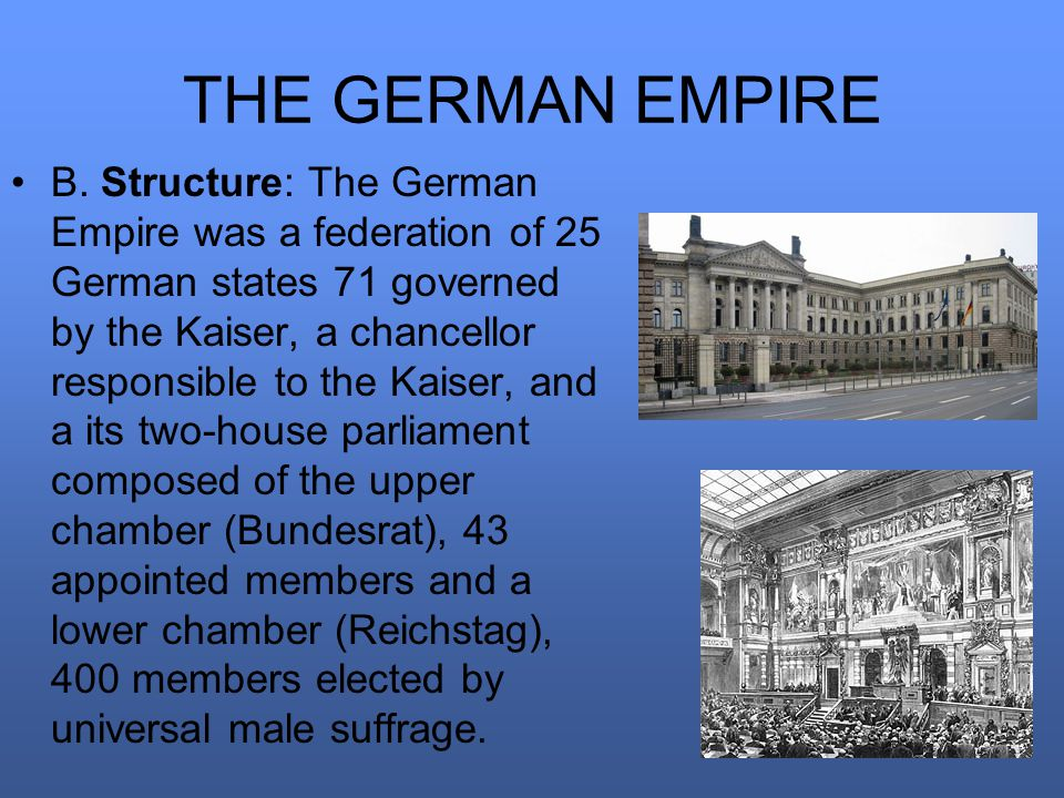 THE GERMAN EMPIRE B.