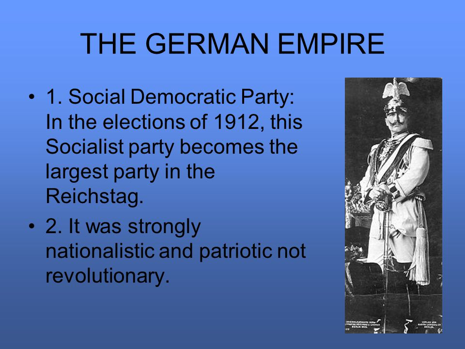 THE GERMAN EMPIRE 1.