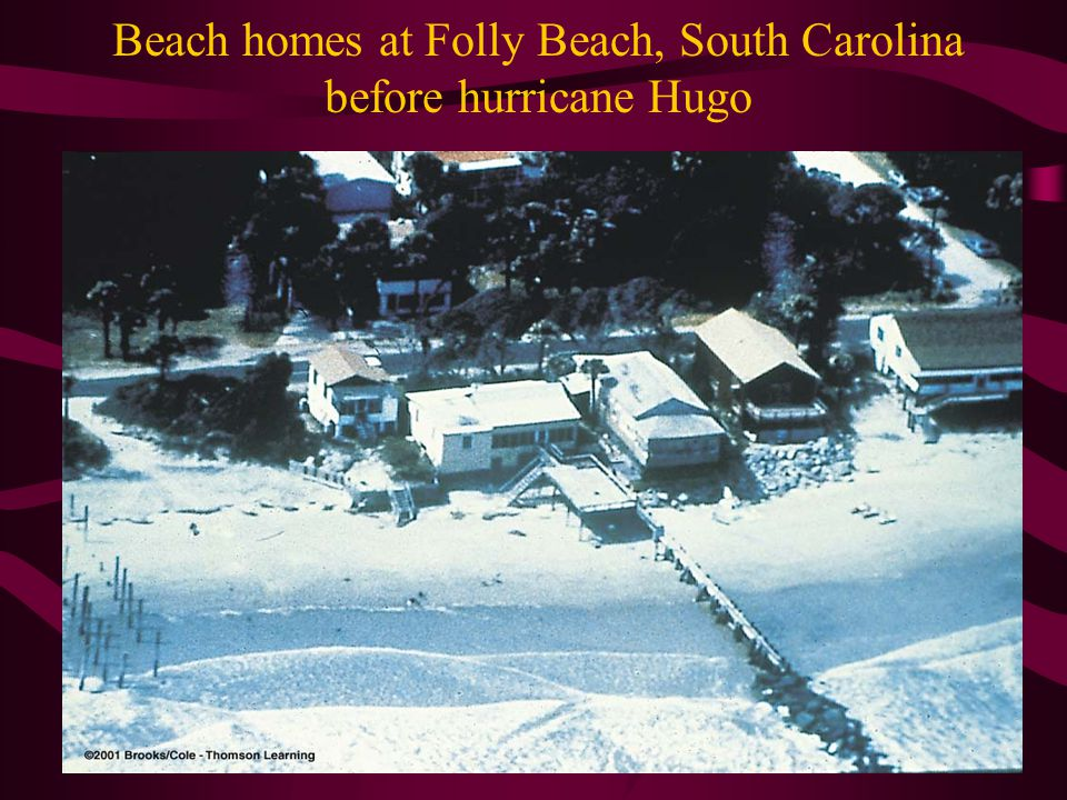 Beach homes at Folly Beach, South Carolina before hurricane Hugo