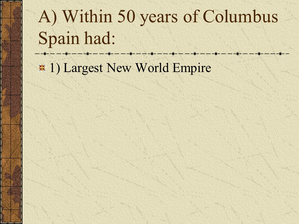 1) Largest New World Empire