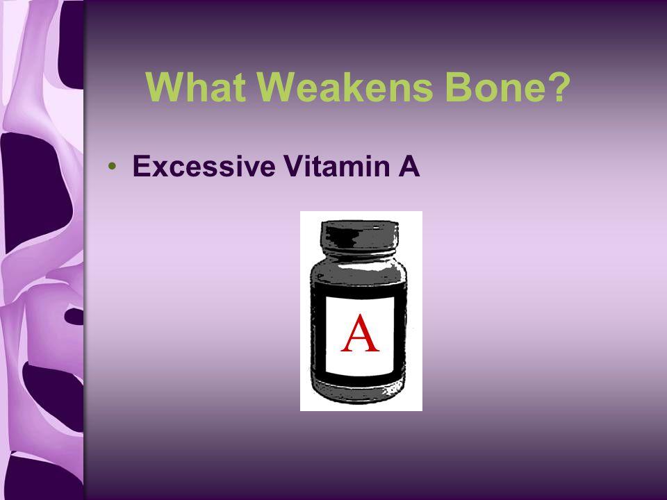 What Weakens Bone Excessive Vitamin A A