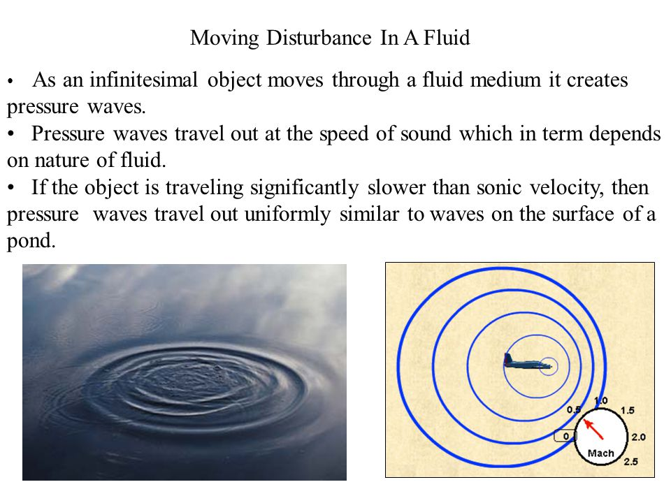 Speed of sound in a Fluid Flow The speed of sound can be obtained easily