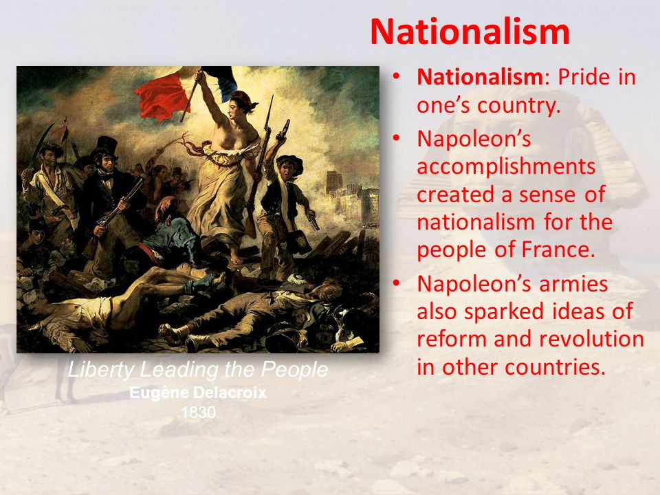 Nationalism Nationalism: Pride in one's country.