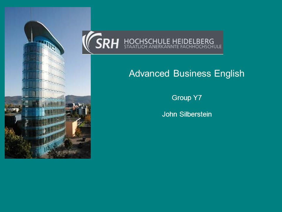Advanced Business English John Silberstein Group Y7