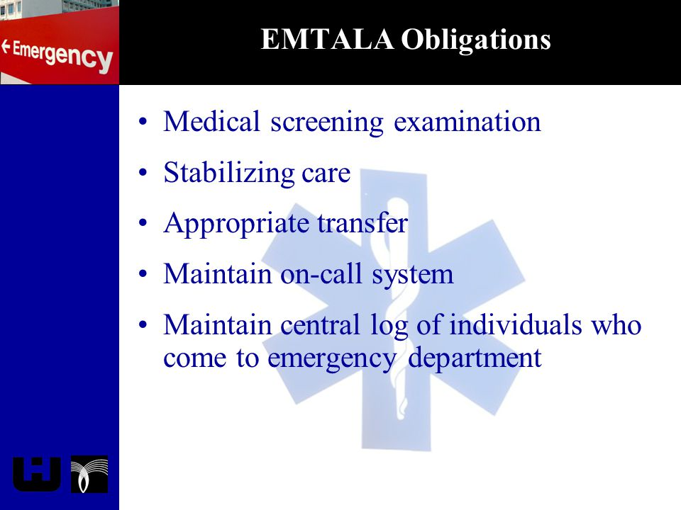 Revised EMTALA Rule Proposed changes May 9th 2002 Final rule published September 9th 2003 Final rule effective November 10th 2003