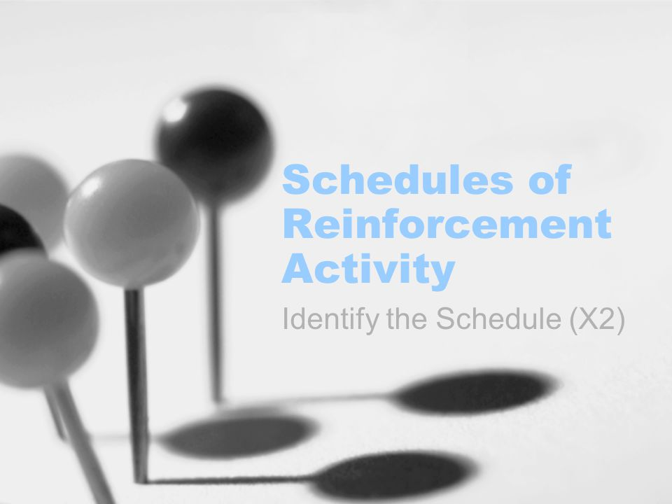 Schedules of Reinforcement Activity Identify the Schedule (X2)