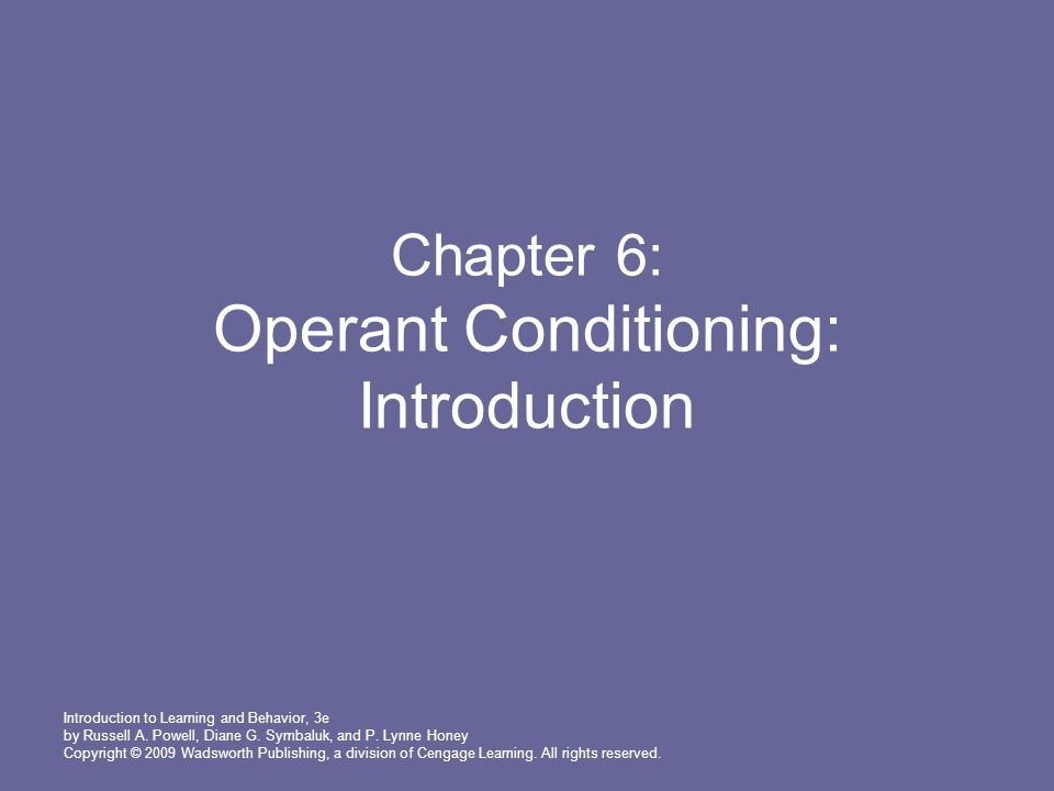 Introduction to Learning and Behavior, 3e by Russell A.