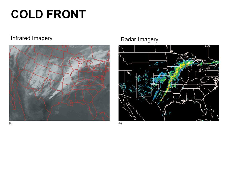 COLD FRONT Infrared Imagery Radar Imagery