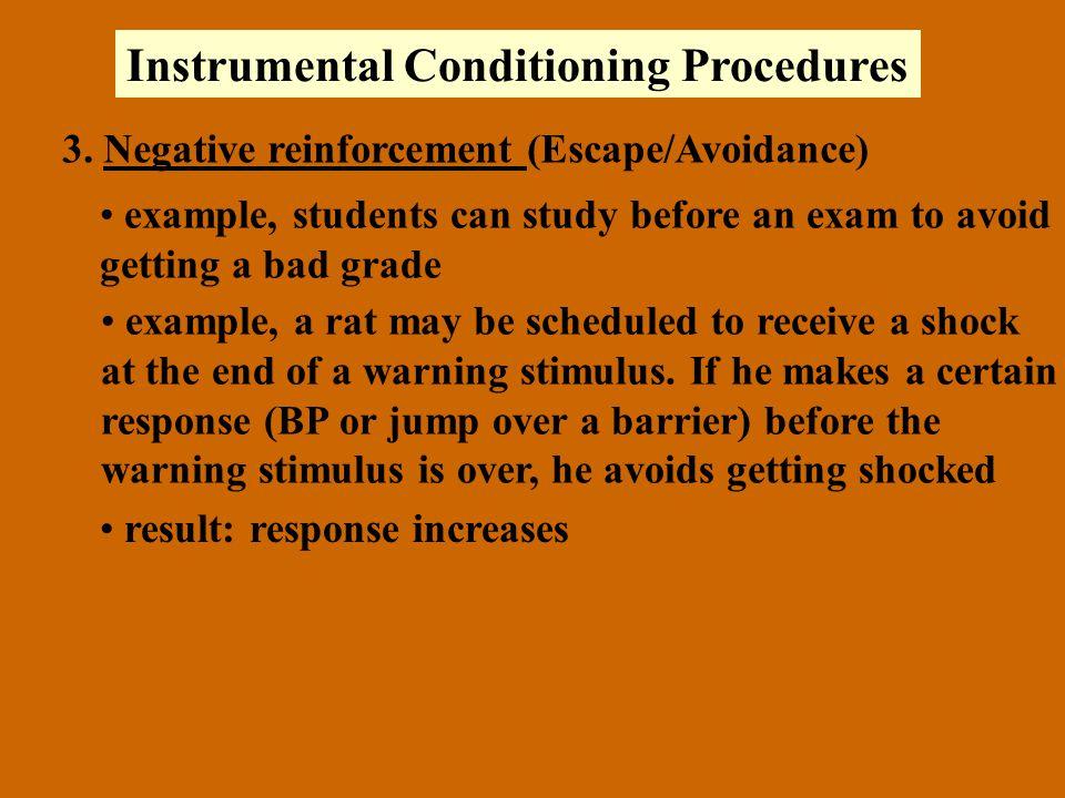 Instrumental Conditioning Procedures 3.