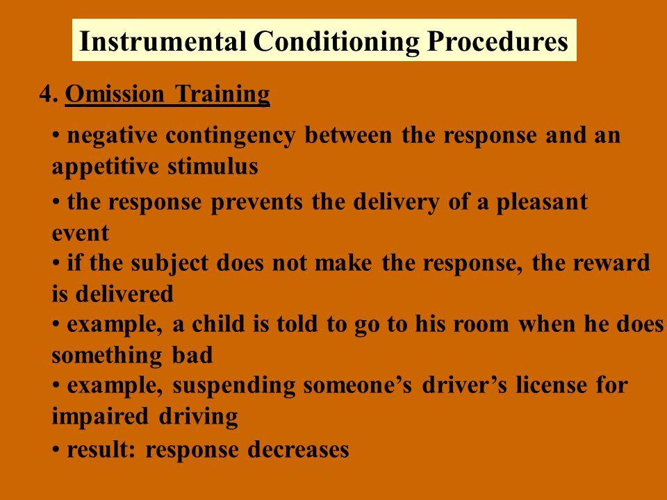Instrumental Conditioning Procedures 4.