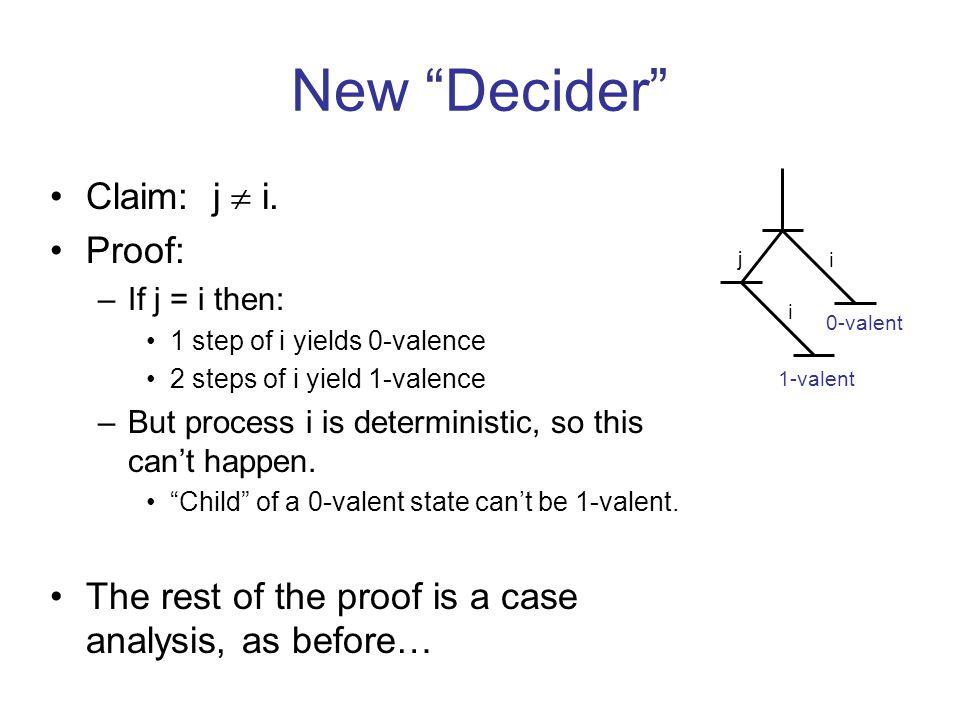 New Decider Claim: j  i.