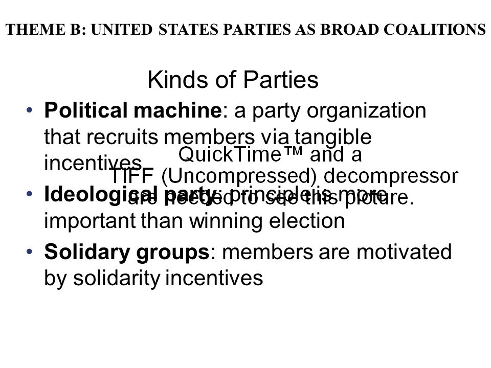 Copyright © Houghton Mifflin Company. All rights reserved.9 | 31 Kinds of Parties Political machine: a party organization that recruits members via ta