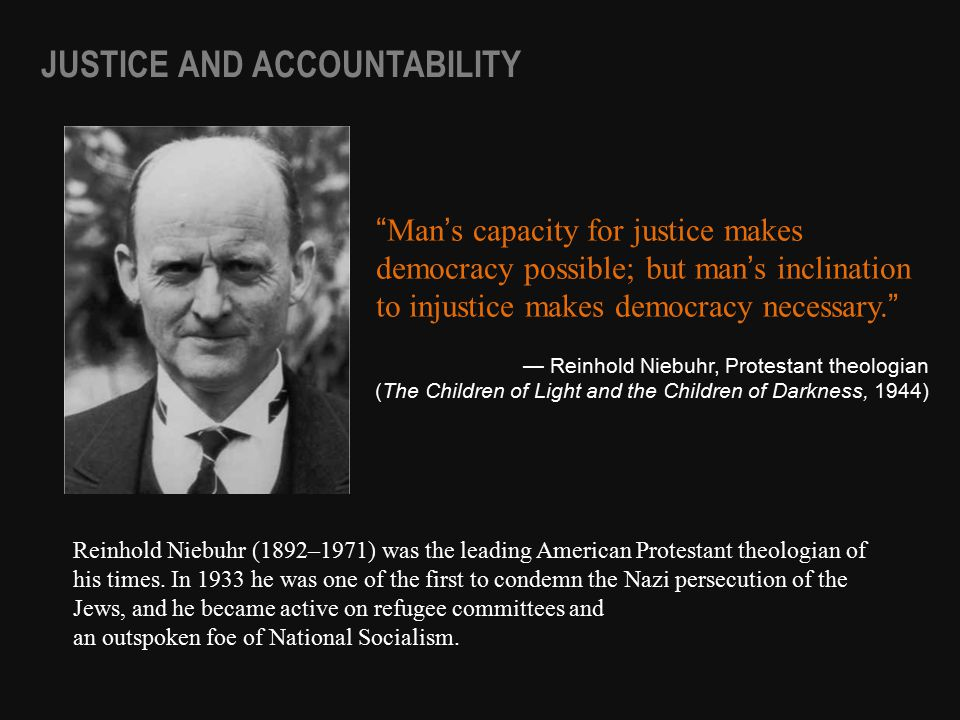 Reinhold Niebuhr (1892–1971) was the leading American Protestant theologian of his times.