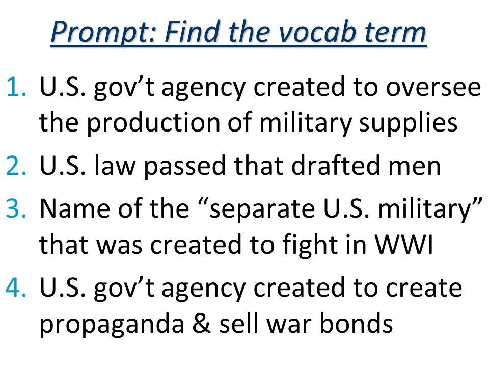 Prompt: Find the vocab term 1.U.S.
