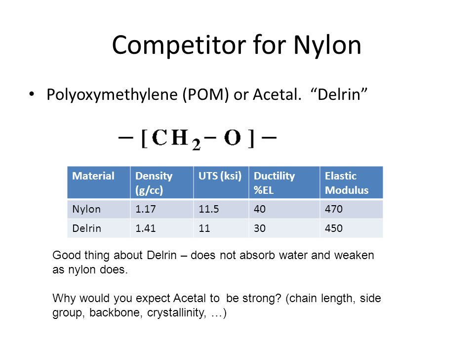 Relatives of Nylon: The Aramids Here is a truly wonderful engineering polymer.