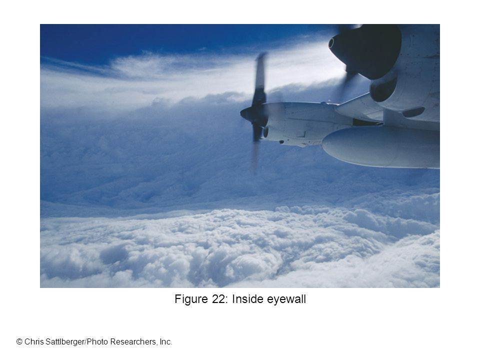 Figure 22: Inside eyewall © Chris Sattlberger/Photo Researchers, Inc.