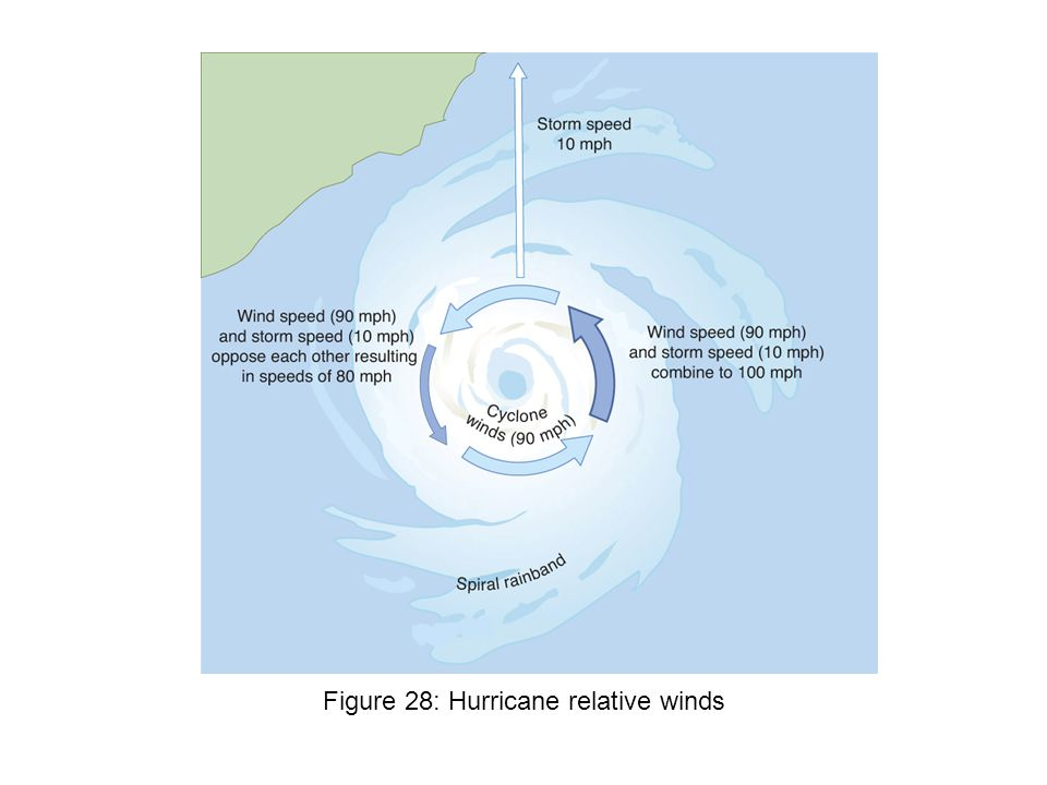 Figure 28: Hurricane relative winds