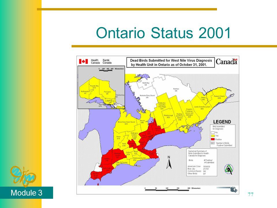 Module 3 77 Ontario Status 2001
