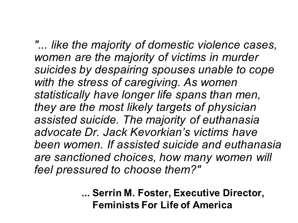 ... Serrin M. Foster, Executive Director, Feminists For Life of America ...