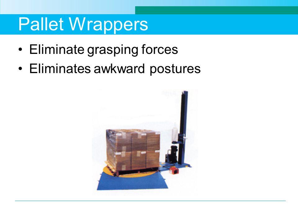 Pallet Wrappers Eliminate grasping forces Eliminates awkward postures