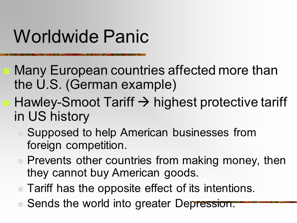 Worldwide Panic Many European countries affected more than the U.S.